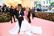 Zazie Beetz was both the bride and the groom in this Thom Browne tuxedo/wedding gown hybrid at the 2019 Met Gala.