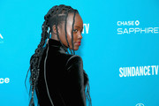 Lupita Nyong'o went punk with this multi-braid hairstyle at the Sundance Film Festival premiere of 'Little Monsters.'