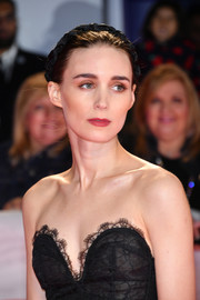 Rooney Mara tamed her updo with a braided satin headband for the TIFF premiere of 'Joker.'