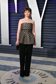 Ginnifer Goodwin paired her top with simple black trousers.