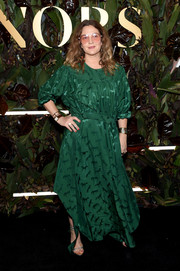 Drew Barrymore donned a belted green maxi dress by Stella McCartney for the 2019 WWD Honors.