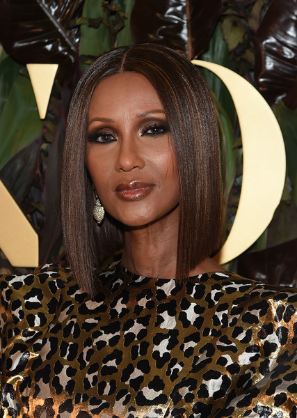Iman framed her face with a super-sleek lob for the 2019 WWD Honors.