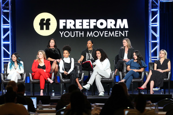 More Pics of Yara Shahidi Pumps (1 of 5) - Heels Lookbook - StyleBistro [event,performance,convention,competition,talent show,stage equipment,musical theatre,performing arts,crowd,music,marlene king,genzuk henry,jenifer rice,sasha pieterse,luka sabbat,back l-r,front l-r,pasadena,winter tca,panel]