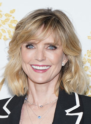 Courtney Thorne-Smith sported a stylish wavy cut with side-swept bangs at the 2019 Winter TCA Tour.