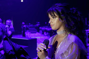 Camila Cabello accessorized with a dazzling diamond choker at the 2019 iHeartRadio Music Festival.