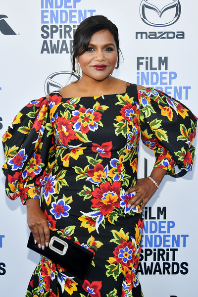 Mindy Kaling added sparkle to her look with a beautiful diamond bracelet at the 2020 Film Independent Spirit Awards.