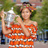 Hair Accessories Lookbook: Naomi Osaka wearing Head Scarf (5 of 5). Naomi Osaka topped off her vibrant ensemble with a colorful headwrap.