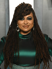 Ava DuVernay rocked her signature dreadlocks at the 2020 Vanity Fair Oscar party.