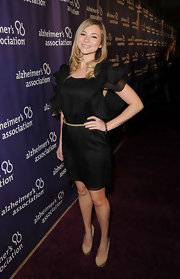 Allie Gonino was all smiles in this ruffled number on the Alzheimer's Association 'A Night at Sardi's' red carpet.