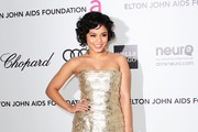 Actress Vanessa Hudgens arrives at the 20th Annual Elton John AIDS Foundation's Oscar Viewing Party held at West Hollywood Park on February 26, 2012 in West Hollywood, California.