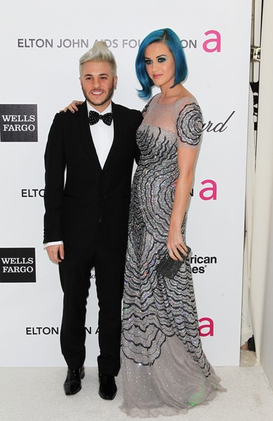 More Pics of Katy Perry Box Clutch (1 of 8) - Clutches Lookbook - StyleBistro [clothing,fashion,carpet,dress,red carpet,hairstyle,formal wear,event,fashion design,premiere,arrivals,singers,katy perry,ferras,west hollywood park,california,elton john aids foundation,oscar viewing party]