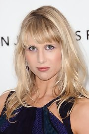 Lucy Punch wore a charming wavy 'do with blunt bangs at the Elton John Oscar viewing party.