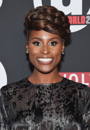 Issa Rae rocked a layered braided updo at the Urbanworld Film Festival screening of 'Insecure.'