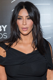 Kim Kardashian attended the Webby Awards wearing her hair in a punky layered cut.