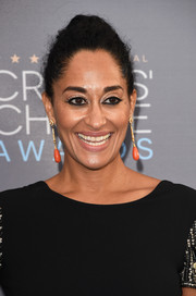 Tracee Ellis Ross opted for a simple loose bun when she attended the Critics' Choice Awards.
