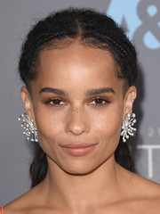 Zoe Kravitz went for an ultra-glam finish with a pair of diamond burst earrings by Dior.