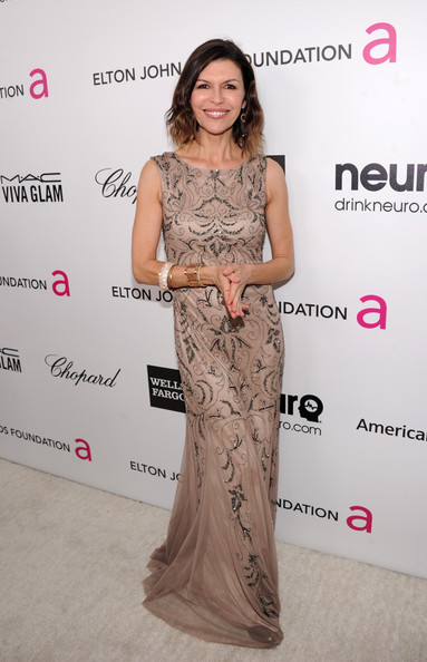 Finola Hughes at Elton John's 2013 Oscars Party