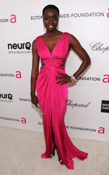 Danai Gurira at Elton John's 2013 Oscars Party
