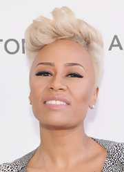 Emeli Sande finished off her look with an edgy-chic fauxhawk.