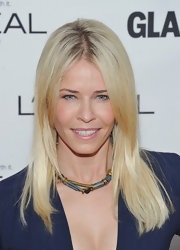 Chelsea Handler wore her hair sleek and straight at the 'Glamour' Women of the Year Awards.