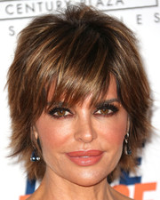 Lisa Rinna was stylishly coiffed with her signature razor cut at the 2014 Race to Erase MS Gala.
