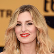 Laura Carmichael's Textured Tresses and Cherry Pout