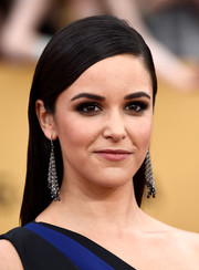 Melissa Fumero opted for a sleek side-parted hairstyle when she attended the SAG Awards.