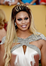 Laverne Cox looked like a fairytale character with her super-long, partially French braided hairstyle during the SAG Awards.