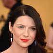 Caitriona Balfe's Chocolate Waves and Tangerine Pout