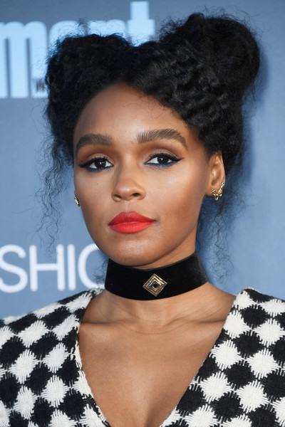 Janelle Monae looked funky with her pigtail buns at the Critics' Choice Awards.