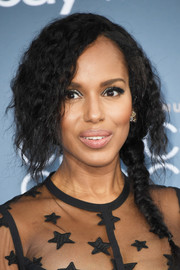 Kerry Washington attended the Critics' Choice Awards rocking a messy fishtail braid.