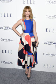 Judy Greer looked exuberant in a boldly hued print dress by L.K. Bennett during the Elle Women in Hollywood Awards.