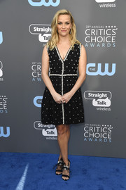 Reese Witherspoon looked fabulous in a crystal-studded LBD by Prada at the 2018 Critics' Choice Awards.