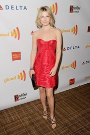 Ali Larter heated things up at the GLAAD Awards in this textured red dress.