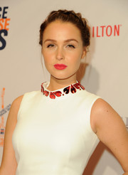 Camilla Luddington looked pretty with her milkmaid braid at the Race to Erase MS Gala.