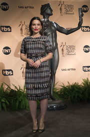 Sophia Bush kept it classy in a tweed midi dress by Iorane at the SAG Awards nominations announcement.