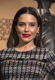 Sophia Bush's red lipstick totally perked up her beauty look!