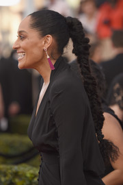 Tracee Ellis Ross pulled her hair back into a tight braid for the SAG Awards.