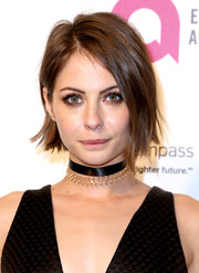 Willa Holland looked cool with her graduated bob at the 2016 Elton John AIDS Foundation Oscar-viewing party.