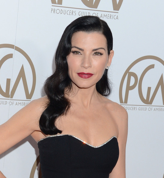 More Pics of Julianna Margulies Strapless Dress (1 of 11) - Julianna Margulies Lookbook - StyleBistro