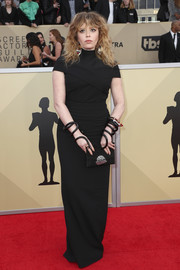 Natasha Lyonne opted for a minimalist black Proenza Schouler gown when she attended the 2018 SAG Awards.