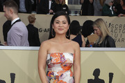 Kelly Marie Tran Strapless Dress