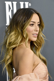 Chloe Bennet looked fab with her ombre waves at the 2020 Critics' Choice Awards.