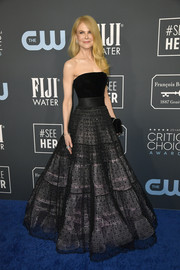 Nicole Kidman was the belle of the ball in a strapless black gown by Armani Privé at the 2020 Critics' Choice Awards.