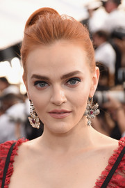 Madeline Brewer swept her hair back into a bun for the 2019 SAG Awards.