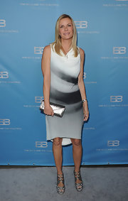 Katherine Kelly Lang accessorized with platform strappy sandals.