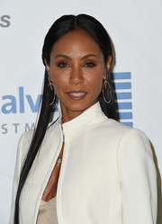 Jada Pinkett Smith wore a hippie-chic half-up center-parted style at the EMA Awards.