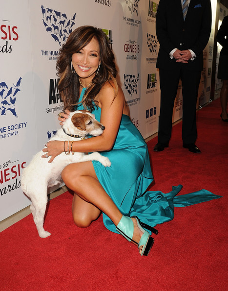 Carrie Ann Inaba wore a pair of aqua and black platform heels at the 26th Annual Genesis Awards.