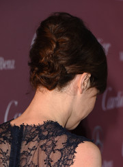 Felicity Jones sported an elegant updo at the Palm Springs International Film Festival Awards. So lovely what a few bobby pins could do!