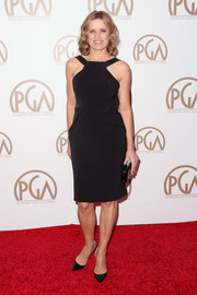 Kim DIckens looked stunning in her LBD with interesting straps at the 26th Annual Producers Guild Of America Awards.